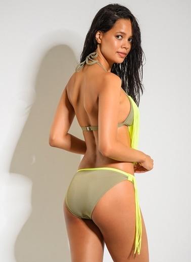 Dagi Kaplı Üçgen Bikini Takım Yeşil